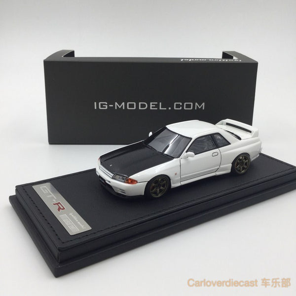 Mode d'allumage Nissan Nismo R32 GT-R S-tune Crystal White (RA-Wheel) Resin Scale 1:43 IG0922
