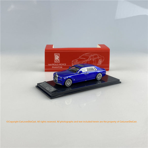 SMALLCARART 1:64  RR Phantom Generation 8  Blue (SK164005BE) Diecast Car available on Nov 2020 Pre order now
