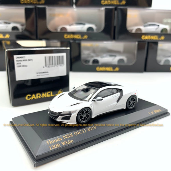 Car-Nel 1:64 Honda NSX (NC1) 2019 (White) CN640022 diecast car model available now