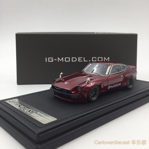 Ignition Mode Pamdem S30 Z Red Metallic (W-Wheel) Resin Scale 1:43 IG1242