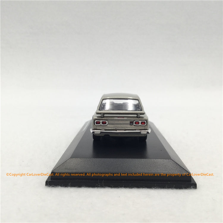 Kyosho 1:64 Nissan Skyline 2000GT-R (KPGC10) Silver with based and display cover diecast (KS06990S)  available now