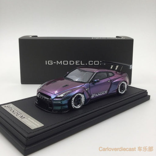 Ignition Mode Pandem R35 GT-R Purple/Green (RA-Wheel) Resin Scale 1:43 IG1154