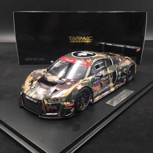 Tarmac Works 1:18 Audi R8 LMS Cup 2016 Taiwan Round AAPE / Audi HK Marchy Lee (T18-004-CUP16GRN) resin car model available  now