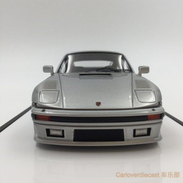 Makeup  Porsche 930 Turbo Flat nose 1988   Silver  resin scale 1:43(VM089A4) available  now