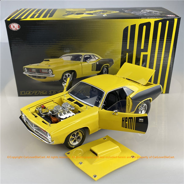 ACME 1:18 1972 Plymouth Hemi Drag Cuda (A1806118) Diecast car model available  now