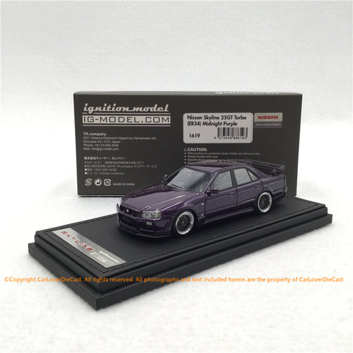 ignition Model 1:43 Nissan Skyline 25GT Turbo (ER34) Midnight Purple (IG1619) resin car model available now