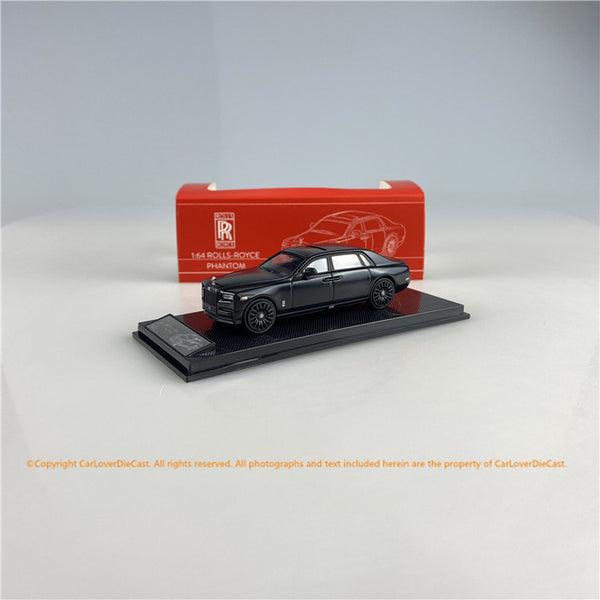 SMALLCARART 1:64  RR Phantom VIII Matte black (SK164005DB) Diecast Car available now