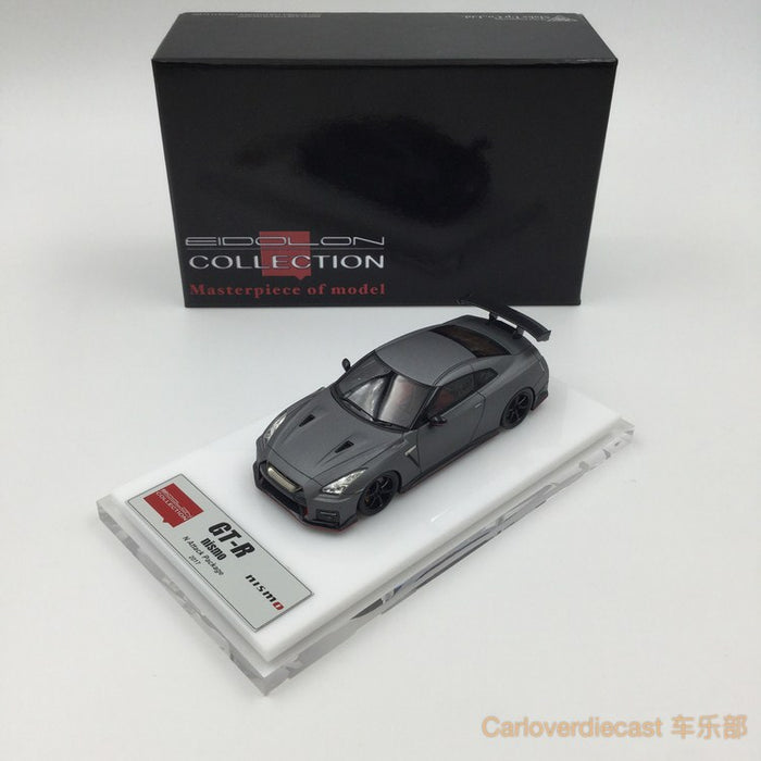 Makeup  NISSAN GT-R NISMO N Attack Package 2017   dark  matt   gray resin scale 1:43(EM357B) available  now