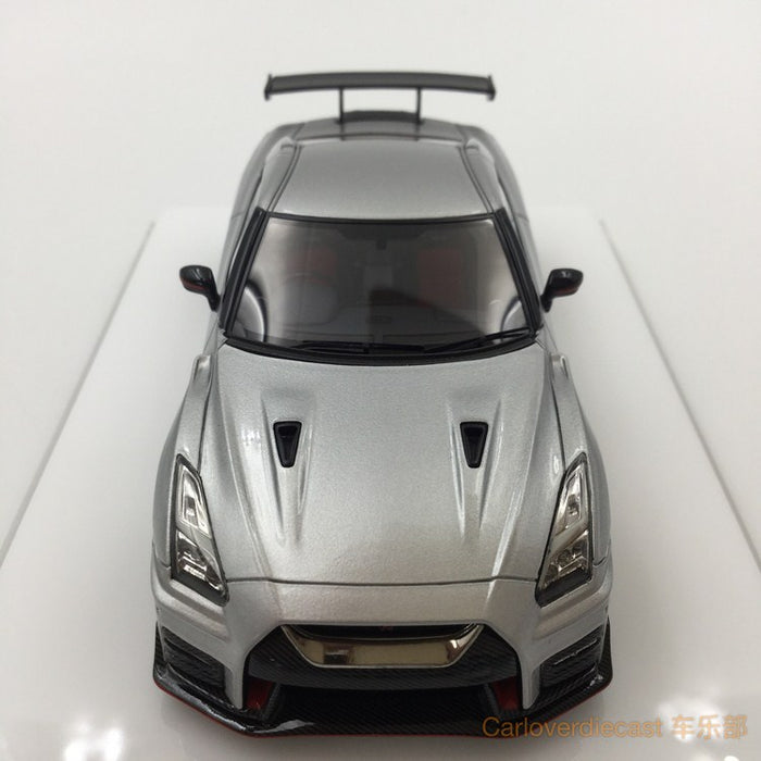 Makeup  NISSAN GT-R NISMO N Attack Package 2017 Ultimate metal silver resin scale 1:43(EM357C) available  now