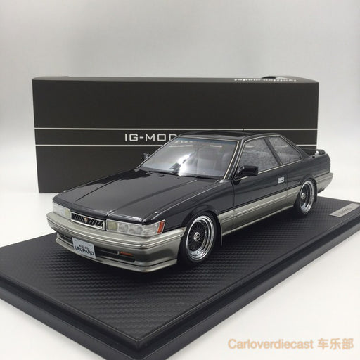 Ignition Model Nissan Leopard 3.0 Ultima (F31) Black resin Scale 1:18 (IG1017) free display cover