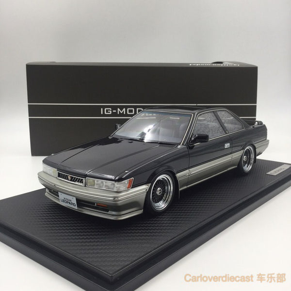 Ignition Model Nissan Leopard 3.0 Ultima (F31) Black resin Scale 1:18 (IG1017) couverture d'affichage gratuit