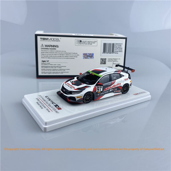 TSM 1:43 Honda Civic Type R TCR #97 2018 Suzuja Winner  (TSM430444) resin car model