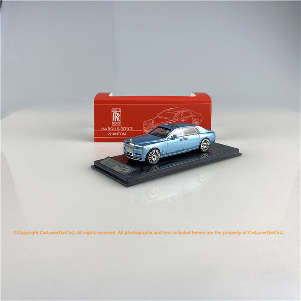 SMALLCARART 1:64  RR Phantom VIII Silver Blue  (SK164005SB) Diecast Car available on the end of November pre-order now