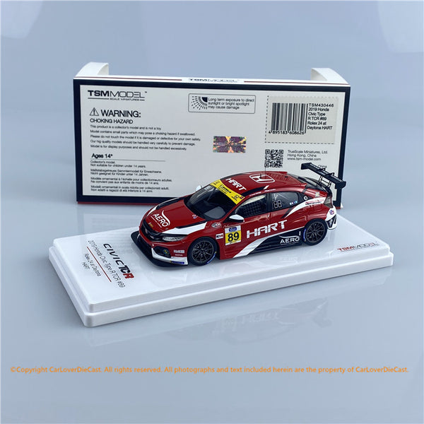 TSM 1:43 Honda Civic Type R TCR #89 2019 Rolex 24  (TSM430446) resin car model