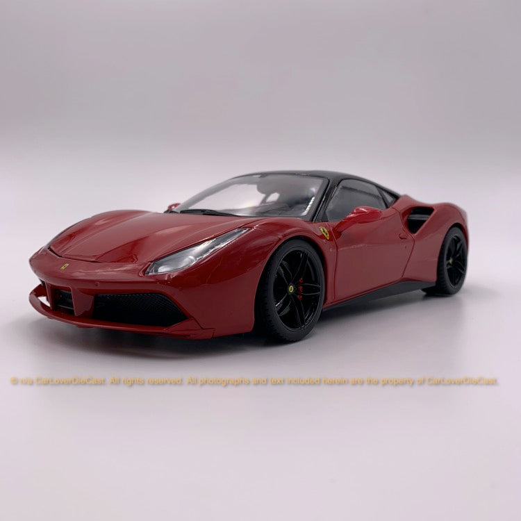 Bbruago 1:18 Ferrari 488 GTB (18-16905-Red) Red diecast car model
