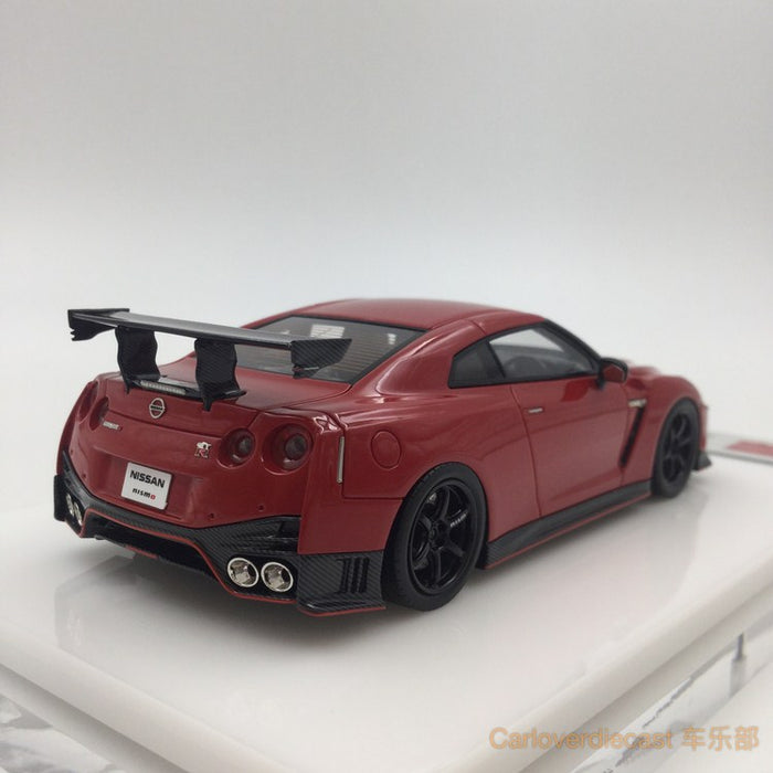 Makeup  NISSAN GT-R NISMO N Attack Package 2017 Red vibe implant resin scale 1:43(EM357E) available  now