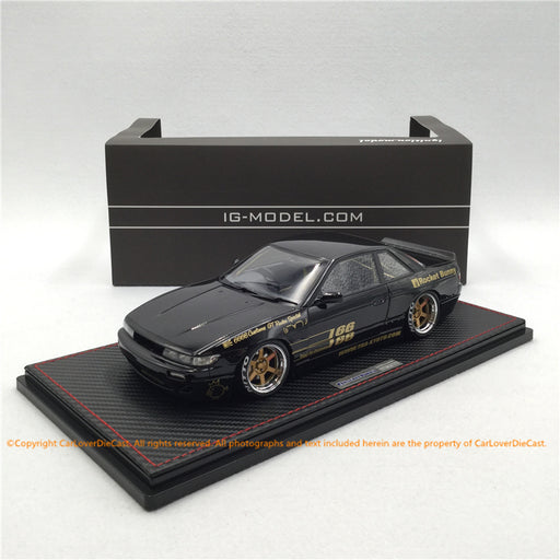 ignition Model 1:18 Rocket Bunny S13 V1  resin car model  (sealed) Black (IG1131) available now