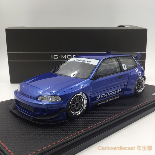 Ignition Model - Honda Civic Pandem (EG6) Metallic Red resin Scale 1:18 (IG1054) free display cover