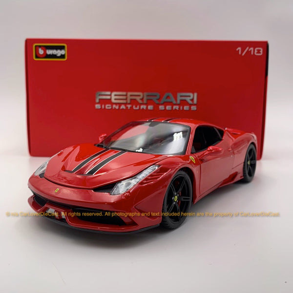 Bbruago 1:18 Ferrari 458 Speciale (18-16903-Red) Red  diecast car model