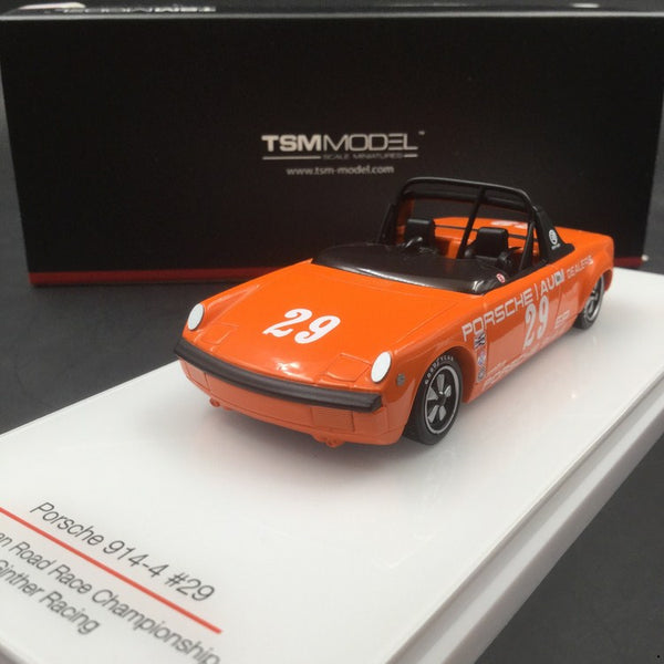 TSM 1:43 Porsche 914-4 #29 1972 American Road Race Championship Ritchie Ginther (TSM164338) resin car model