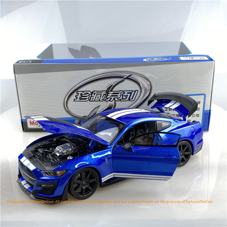 Maisto 1:18 2020 Ford Shelby GT500 (orange / Blue ) 10-31388 diecast model