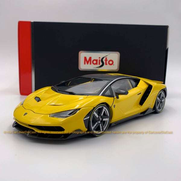Maisto 1:18 Lamborghini Centenario (10-38136-Metallic yellow) diecast car model