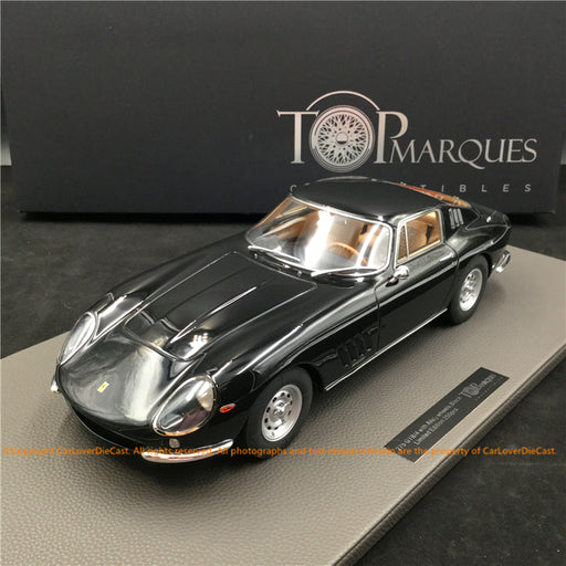 Top Marques -  275 GTB /4  (Black with Tan interior and Alloy Wheels) 1:12 resin model (TM12-04M) available now