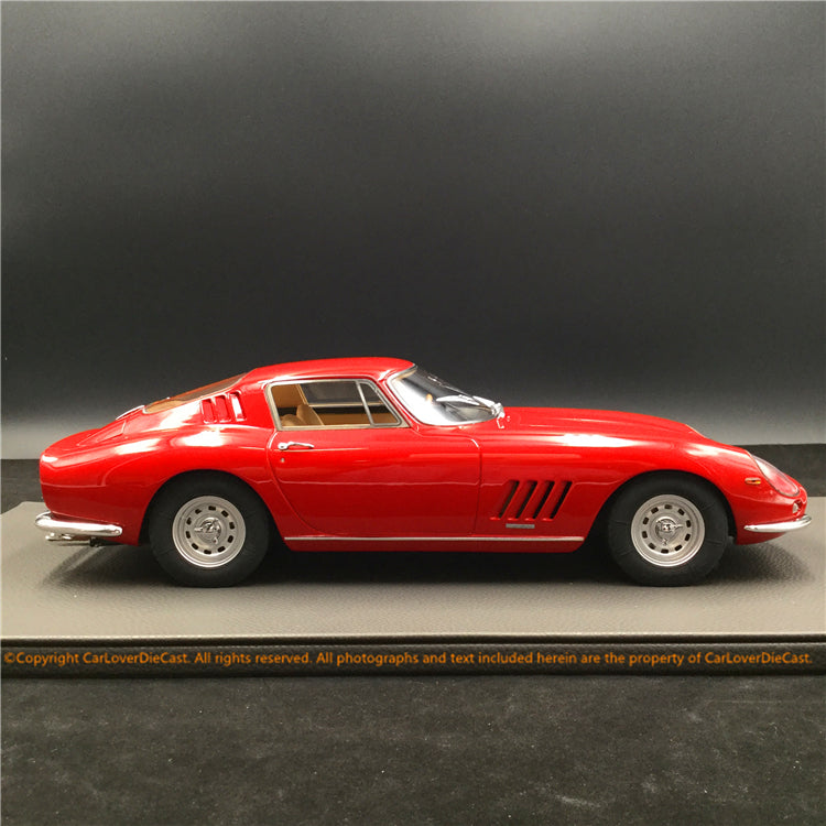 Top Marques -   275 GTB /4  (Red with Tan interior and alloy wheels ) 1:12 resin model (TM12-04K) available now