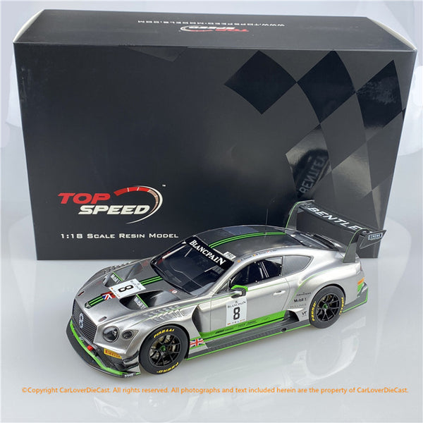 Topspeed 1:18 Bentley Continental GT3 #8  2018 Blancpain GT Series Monza  Bentley Team M-Sport (TS0244)