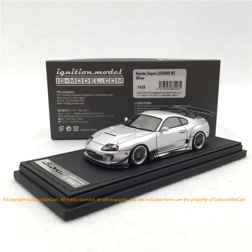 Ignition Model 1:43 Toyota Supra (JZA80)  RZ Silver   (IG1428) resin car model available now