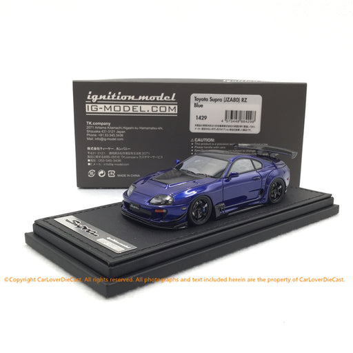 Ignition Model 1:43 Toyota Supra (JZA80)  RZ Blue   (IG1429) resin car model available now