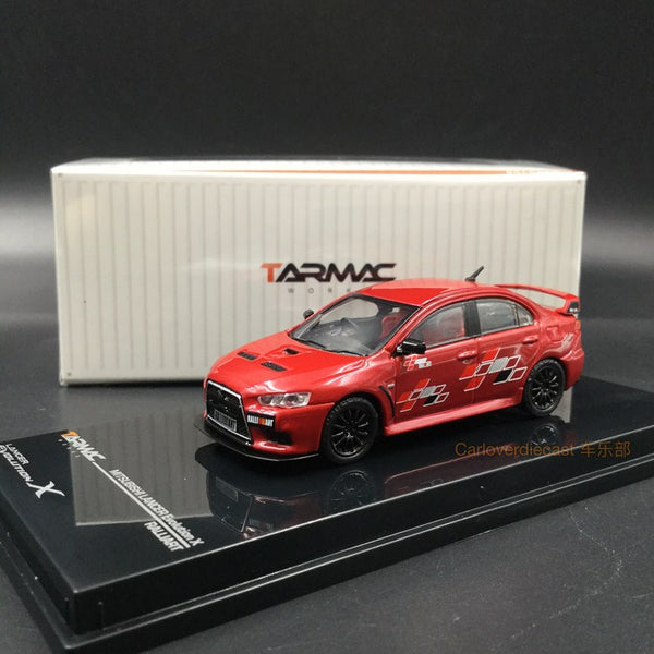 (Tarmac Works)  Mitsubishi Evo X - Ralliart Edition/ Red diecast scale 1:64 (T64-004-RER)