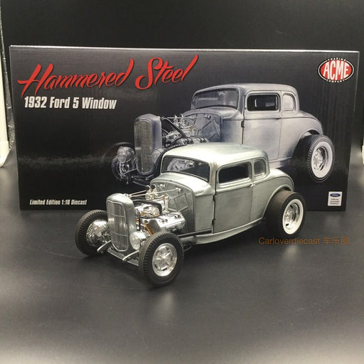 ACME 1:18 1932 Ford 5 Window Hammered Steel diecast model (A1805013) available now