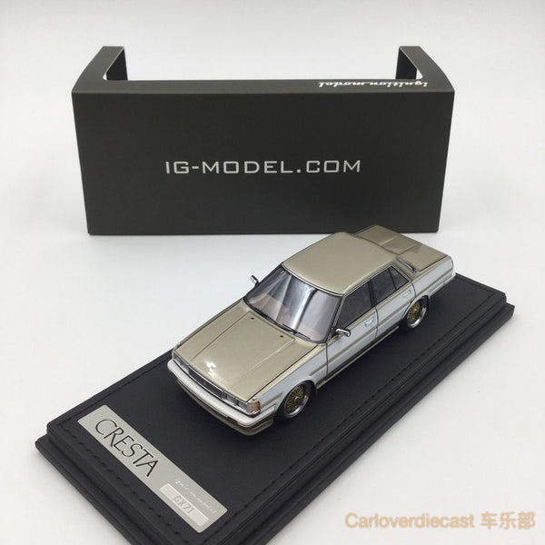 Ignition model - Toyota Cresta Super Lucent (GX71) White/Gold (BB-Wheel) resin scale 1:43 - IG0684