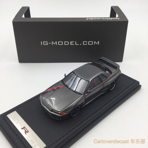 Ignition model - Nissan Skyline GT-R Nismo (R32) Gun Metallic (LMGT4 Wheel) resin scale 1:43 - IG0958