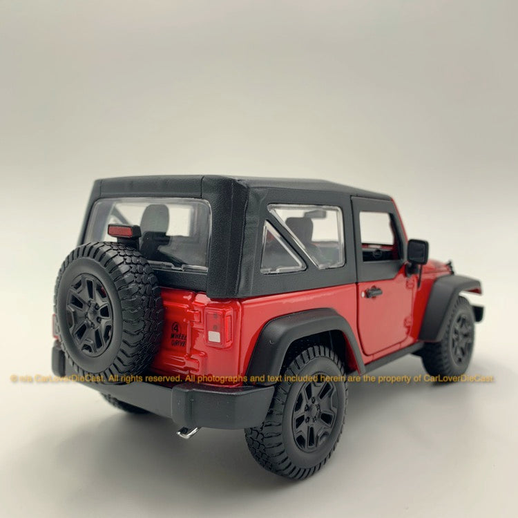 Maisto 1:18 Jeep Wrangler  (10-31676-Red) Red  diecast car model