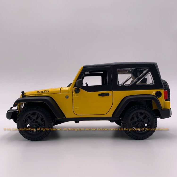 Maisto 1:18 Jeep Wrangler  (10-31676-metallic yellow)  diecast car model