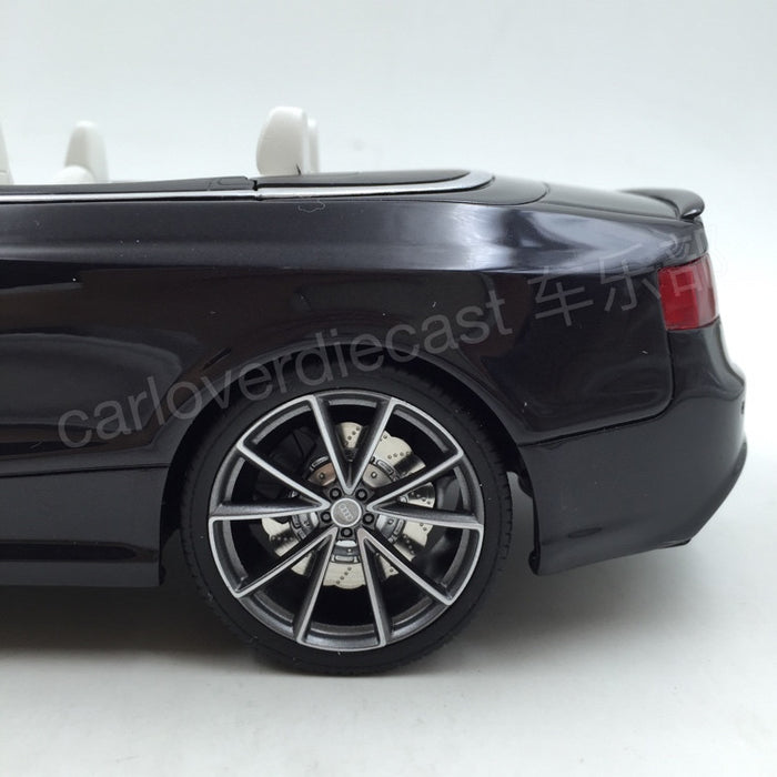 (GT Spirit) AUDI RS5 CABRIOLET Resin Scale 1/18 Model By GT Spirit (GT093)Black Limited 1500 units