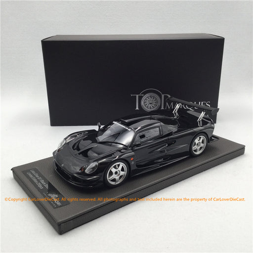 Top Marques  1:18   Lotus Elise GT1 Black Street (TOP055A) resin car model available now
