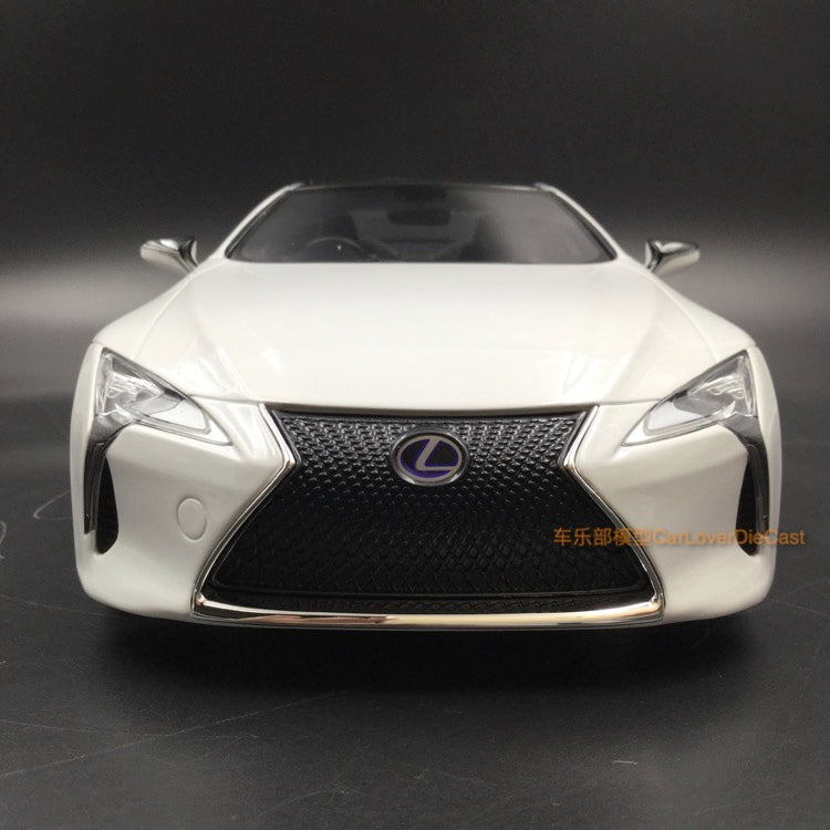 Kyosho Samuari Lexus LC500 resin scale 1:18 (KSR18024W-B) White color Limited 400pcs available now
