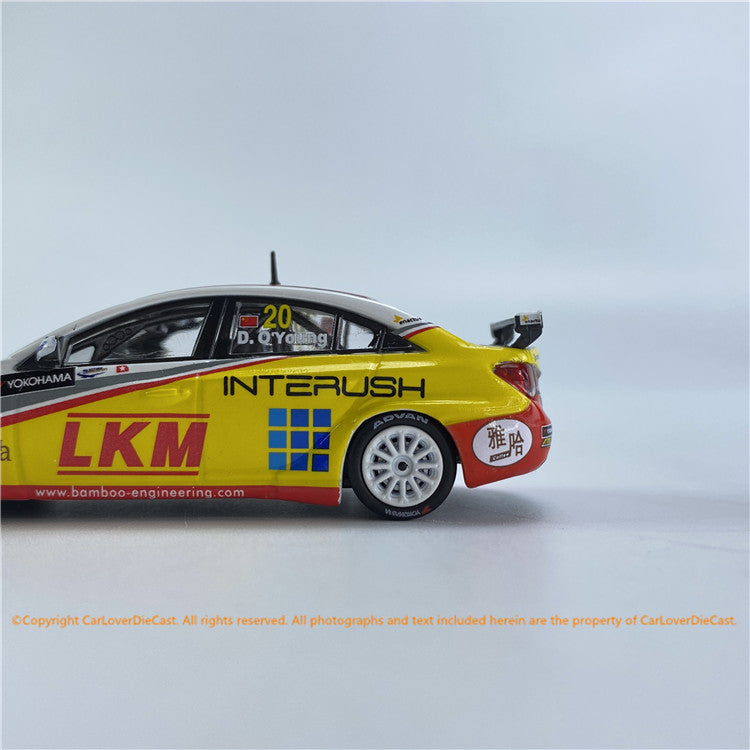 POPRACE 1/64  Chervolet Cruze WTCC Macau WTCC 2012  Winner Independent Driver Class Race 1 & Race 2 Darryl O'Young (PR64-CRUZE-12MWTCC20) diecast car model available now