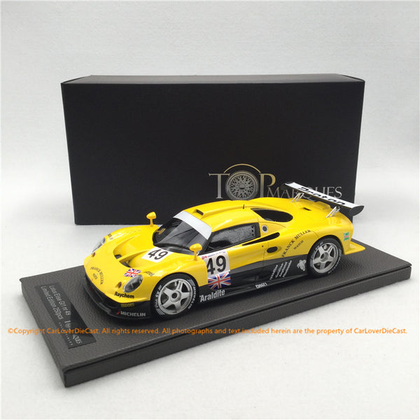 Top Marques  1:18   Lotus Elise GT1 Yellow Green Racing  (TOP055C) resin car model available now