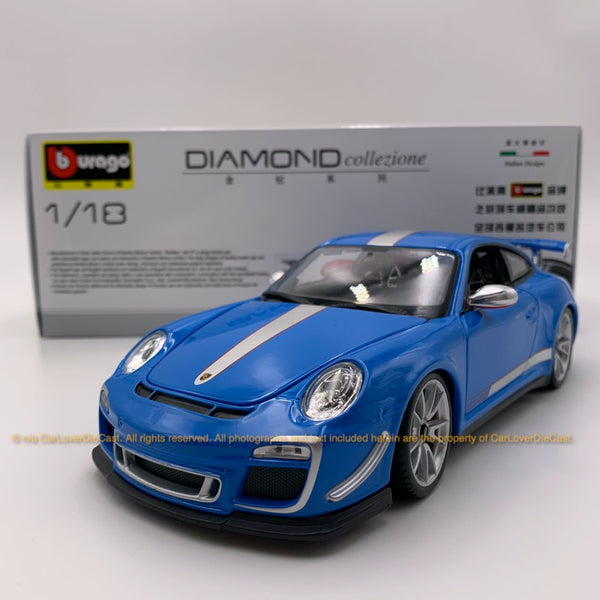 Bbruago 1:18 Porsche 911 GT3 RS 4.0 (18-11036 blue) diecast car model