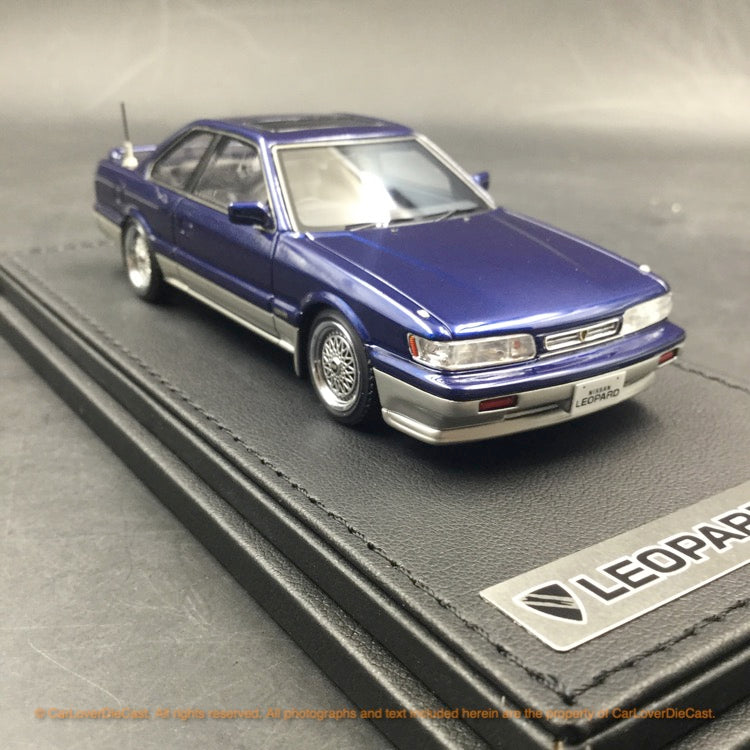 Ignition Model 1:43 Nissan Leopard (F31) Ultima V30Twin CamTurbo (Dark Blue/Silver)IG1563 resin car model