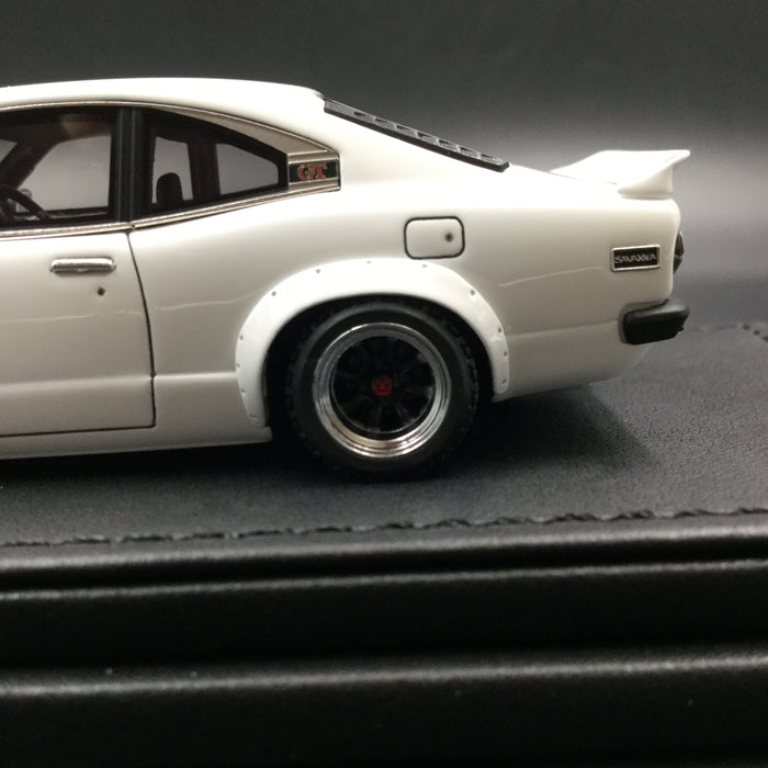 Ignition Model Mazda Savanna (S124A) Semi Works resin scale 1:43 white  (IG1161) available now