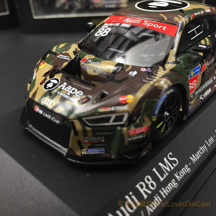 Tarmac Works x Aape  - Audi R8 LMS Scale 1:43 HK Marchy Lee Taiwan cup 2016 (TM012)