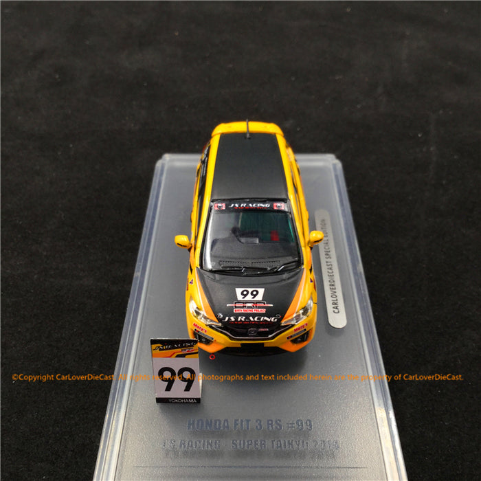 "INNO64 1:64 Honda FIT 3 RS #99 ""J"" S Racing Super Taikyu 2014 (CarLoverDieCast exclusive edition) die cast model  (IN64-GK5-JS99) available now"