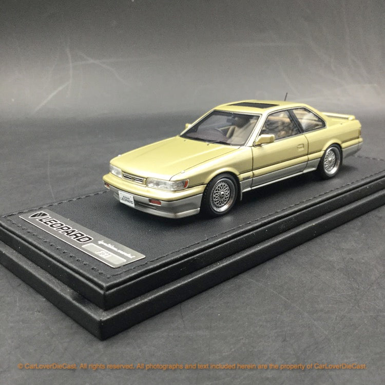 Ignition Model 1:43 Nissan Leopard (F31) Ultima V30Twin CamTurbo (Gold/Silver)IG1564 resin car model