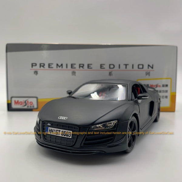 Maisto 1:18 Audi R8 GT 10-36190  (10-36190-Matt Black )  diecast car model