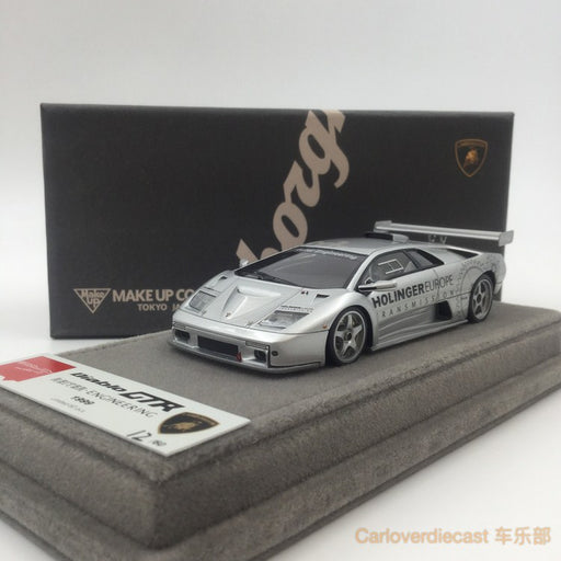 "Makeup  Lamborghini Diablo GTR ""Reiter Engineering 1999 (Silver ) resin scale 1:43(EM335F) available now"